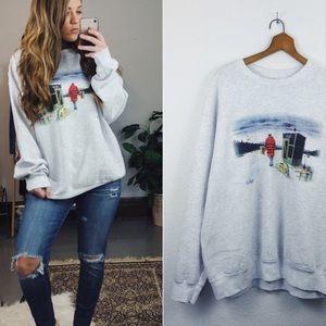 VINTAGE// Oversized Crewneck Sweatshirt